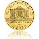 Wiener Philharmoniker Česká mincovna Zlatá investiční mince 1 25 Oz 4 EUR stand 1,24 g