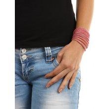 YooY dlouhý kamínkový náramek světle růžová 94BZE32 světle růžová