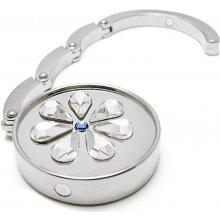 Háček na kabelku s krystaly Swarovski Flower I