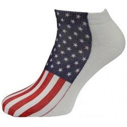 pánské ponožky nízké - vlajka USA alternativy - Heureka.cz 518a1b7654
