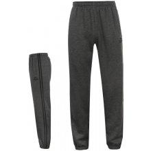 Lonsdale Tepláky 2 Stripe Closed Hem Jogging Bottoms Mens Charcoal/Black