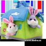 Dedra PLYŠOVÝ DOMEK pro 3 králíčky