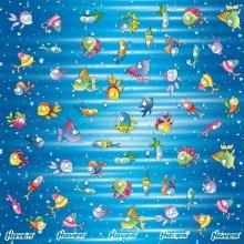 Haven šátek tunel dětský rybičky