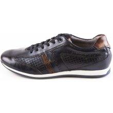 5f9cc1266e3 Pánská obuv BUGATTI Pánské kožené tenisky 311-45002-1111 modrá