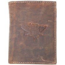 Born to be wild Velká prostorná kožená peněženka