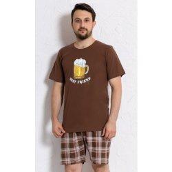 2cd3ef5e3e22 Velké pivo pánské pyžamo krátké hnědé od 369 Kč - Heureka.cz