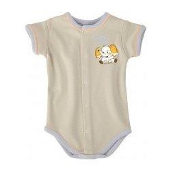 95c15a574420 Kojenecké oblečení body pro miminka slon Nicol béžová NICOL ...