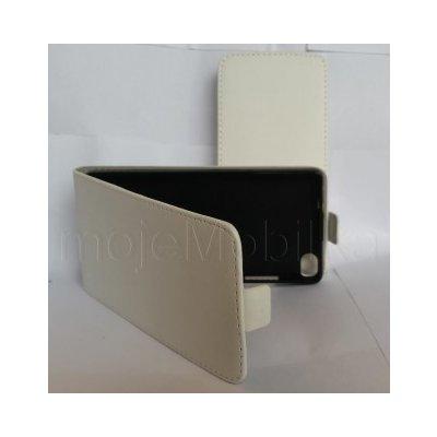 Pouzdro ForCell Slim Flip Samsung Galaxy Ace 4 G357 Bílé