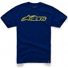 Alpinestars Pánské modro-žluté tričko BLAZE CLASSIC TEE krátké 1032-72032 7050
