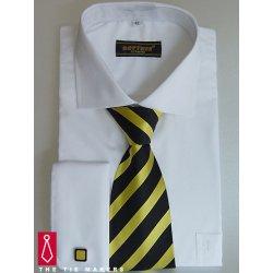 Bílá svatební košile Beytnur na manžetové knoflíčky 14fa894813