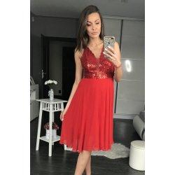 b8a354ab914a PINK BOOM dámské společenské šaty Shiny červená alternativy - Heureka.cz