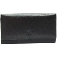 Genevian Peněženka kožená rámková 2206 černá