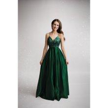 Eva   Lola společenské plesové šaty Carine tmavě zelená 80e7c8d454