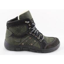 Kacper 4-0199 Dámské zimní kotníkové boty zelené 62238e7f4a3