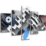 WEBLUX Obraz 5D pětidílný - 150 x 100 cm - Car parts Autodíly