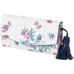 Esprit kabelka bílá-tmavě modrá-květinová 7e5f3ed1b97