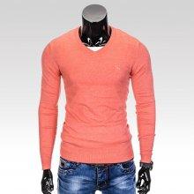 Pánský svetr s výstřihem do V Verel korálový 00b3931328
