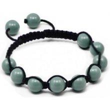 Náramek Shamballa s jadeitové perly Swarovski Elements BMB10.10
