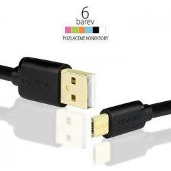 Axagon BUMM-AM10QB Micro USB, 2A, 1m, černý