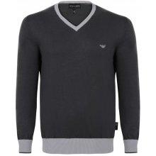 Armani Jeans elegantní svetr od Černo-šedý