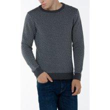 Gant Pánský svetr O2. NORDIC PATTERN CREW šedá S