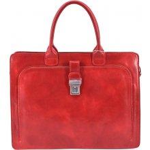 5de9a9533cd Arteddy dámská kožená kabelka aktovka červená