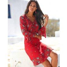 c6e7233a3a4f Blancheporte šaty s volánem a potiskem červená