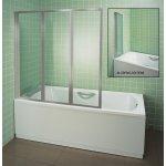 Ravak vanová stěna VS3 115 transparent , satin, 795S0U00Z1