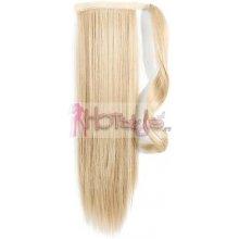 HOTstyle Clip in culík z pravých lidských vlasů rovný 50cm - nejsvětlejší blond