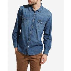 Wrangler Pánská riflová košile Mid Indigo W5973O74E alternativy ... 791c8e2eac