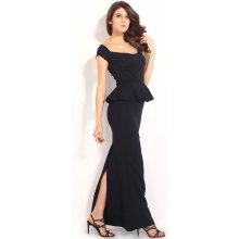 Společenské dlouhé šaty pouzdrové černá 132d6940c3