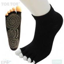 ToeToe JOGA NO FINGER trainer bezprstové ponožky protiskluzové černá