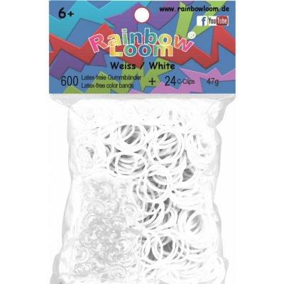 RAINBOW LOOM Original gumičky 600 ks transparentné priesvitné