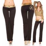 Dámské společenské kalhoty Koucla černé zlaté 4010a8ff7e
