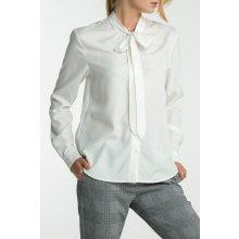 Gant dámská Košile GANT O2. PEACHED BOW BLOUSE bílá