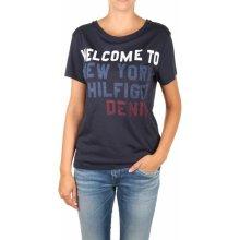 Tommy Hilfiger dámské tmavě modré tričko 4e34c5de27