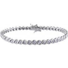 Klenota stříbrný náramek s diamanty sil6830