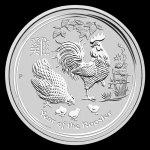 Lunární série II. stříbrná mince 1 AUD Year of the Rooster Rok kohouta 1 Oz 2017