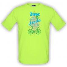 T-shock tričko s potiskem Život je jako jízda na kole pánské Green apple