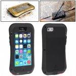 Pouzdro LOVE MEI tenké voděodolné / prachuvzdorné s kovovém rámečkem Apple iPhone 5 / 5S / SE - černé