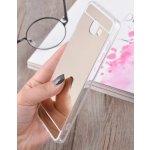 Pouzdro Beweare Silikonové zrcadlové kryt na Samsung Galaxy J7 2016 zlaté
