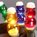 Náhradní žárovka 20V SNĚHULÁK barevný pro retro vánoční figurkové osvětlení - figurka modrá