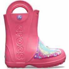 bf1f34d5a32 Crocs FL Creature Rain Boot - růžové