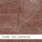 Imit, kamenný obklad Keraton Calvi, 560x280mm, tmavě červená