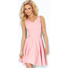 17b83dfd957b Numoco šaty s výstřihem do V 114-5 růžová