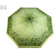 Dámský skládací deštník béžová tm. 1 ks