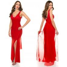 09be8b1e819 KouCla Dlouhé společenské šaty červené