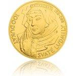 Česká mincovna Zlatá investiční mince 100dukát svaté Ludmily stand 348,5 g