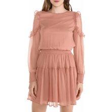 Vero Moda dámské šaty Milla růžová 2ae199664c