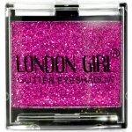 LONDON GIRL Flitrové oční stíny Mono Růžové GLITTER Eyeshadow 08 4,5 g